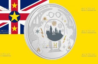 Ниуэ монета 2 доллара Поздравления с сезоном Харри Поттера