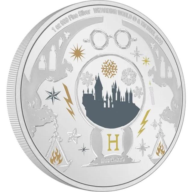 Ниуэ монета 2 доллара Поздравления с сезоном Харри Поттера, реверс
