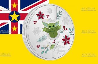 Ниуэ монета 2 доллара Поздравления с сезоном Звездных войн