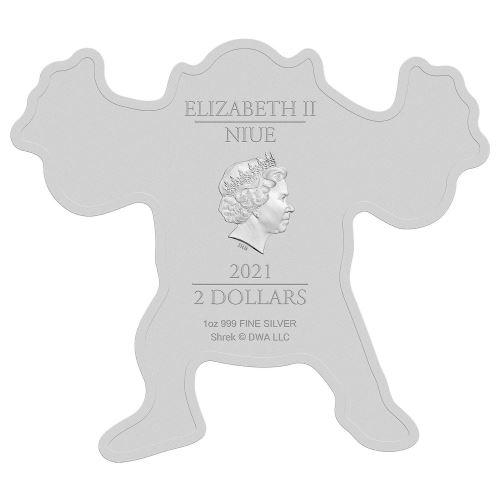 Ниуэ монета 2 доллара Шрек, аверс