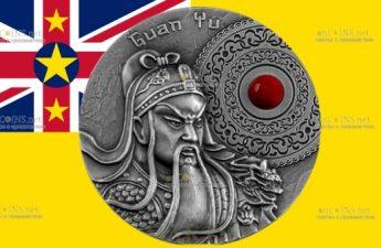 Ниуэ монета 5 долларов Генерал Гуань Юй