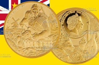 Ниуэ монетау 5 долларов Ведьмак - Последнее желание