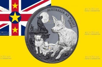 Остров-государство Ниуэ монет 1 доллар Собака Динго