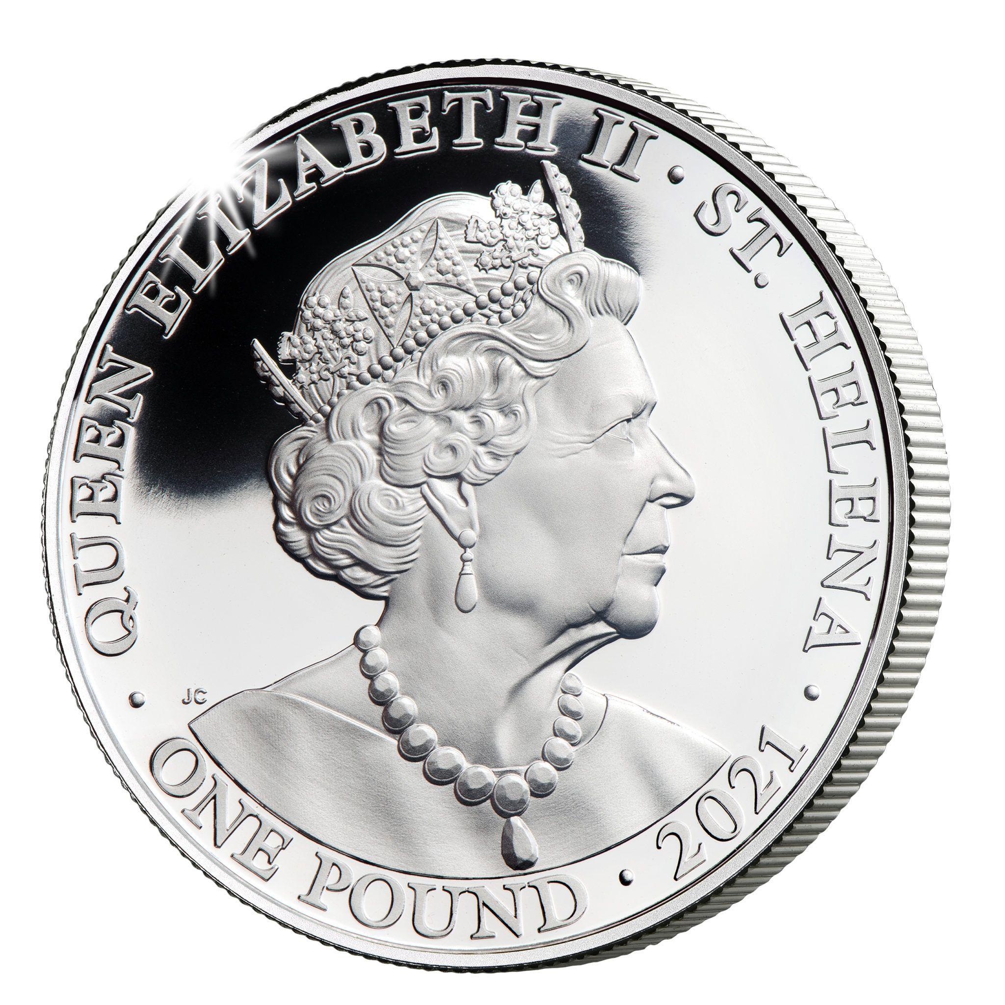Остров Святой Елены монета 1 фунт, 2021 год, аверс