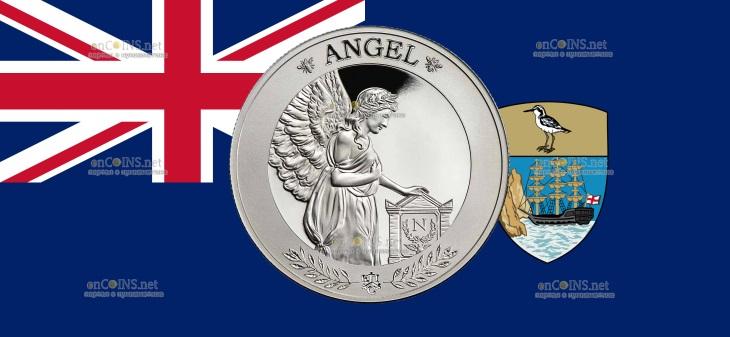 Остров Святой Елены монета 1 фунт Ангел Наполеона