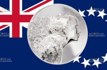 Острова Кука монета 20 долларов Серебряный взрыв