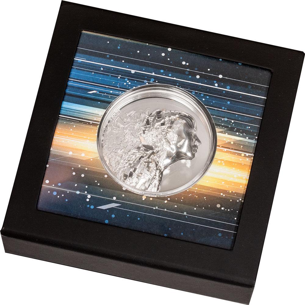 Острова Кука монета 20 долларов Серебряный взрыв, подарочная упаковка