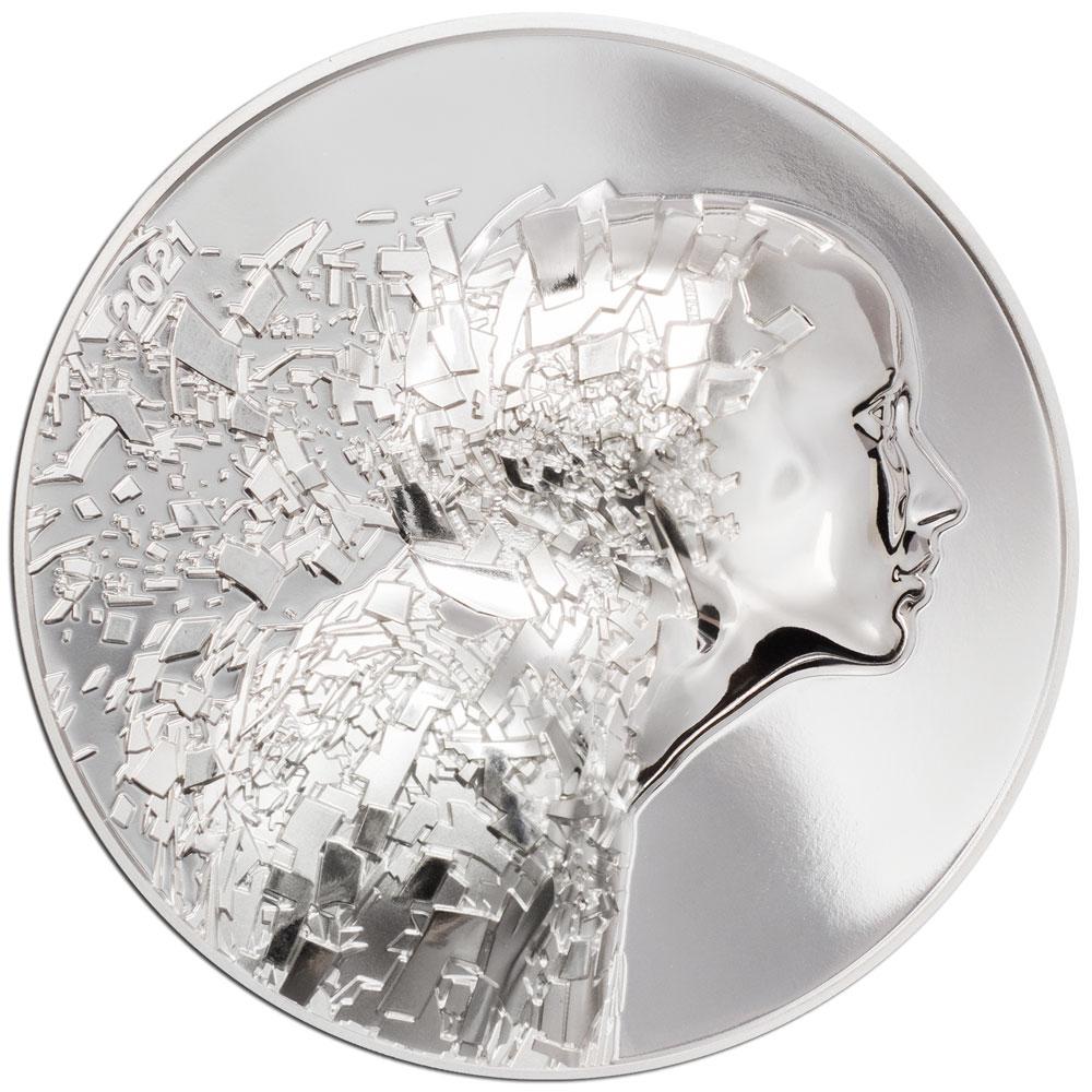 Острова Кука монета 20 долларов Серебряный взрыв, реверс