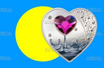 Острова Кука монета 5 долларов Бриллиантовая Любовь