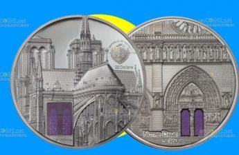 Палау монета 25 долларов Нотр-Дам