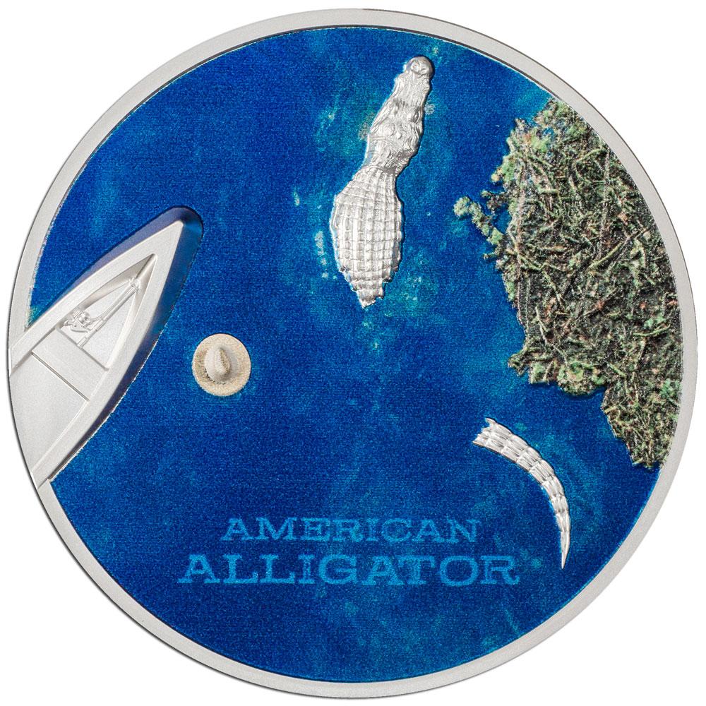 Палау монета 5 долларов Американский Аллигатор, реверс