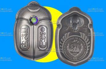 Палау монета 5 долларов Скарабей