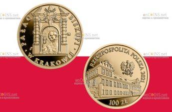 Польша монета 100 злотых Епископский дворец в Кракове