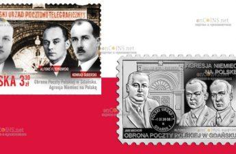 Польша монета 20 злотых Защита Польской почты в Гданьске