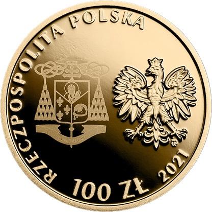 Польша монетау 100 злотых Беатификация кардинала Стефана Вышинского, аверс