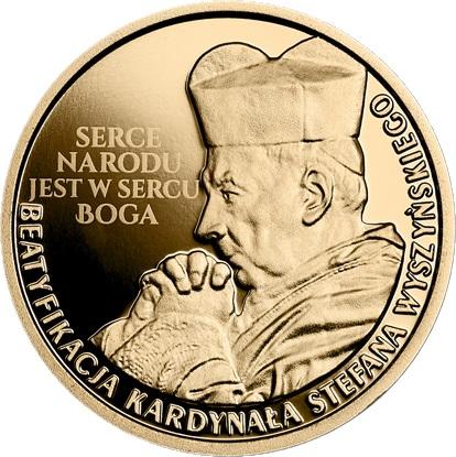 Польша монета 100 злотых Беатификация кардинала Стефана Вышинского, реверс