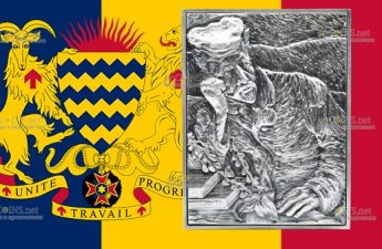 Республика Чад монета 3 000 франков КФА Ван Гог