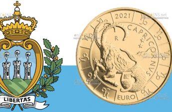 Сан-Марино монета 5 евро Козерог