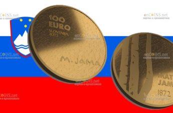 Словения монета 100 евро Матия Джама