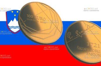 Словения монета 100 евро Страсти по Шкофья Локе