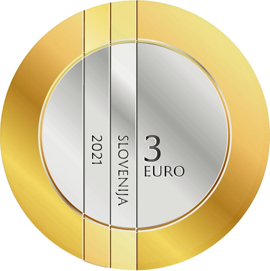 Словения монета 3 евро 30-летие Республики Словения, аверс