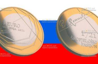 Словения монета 3 евро Страсти по Шкофья Локе