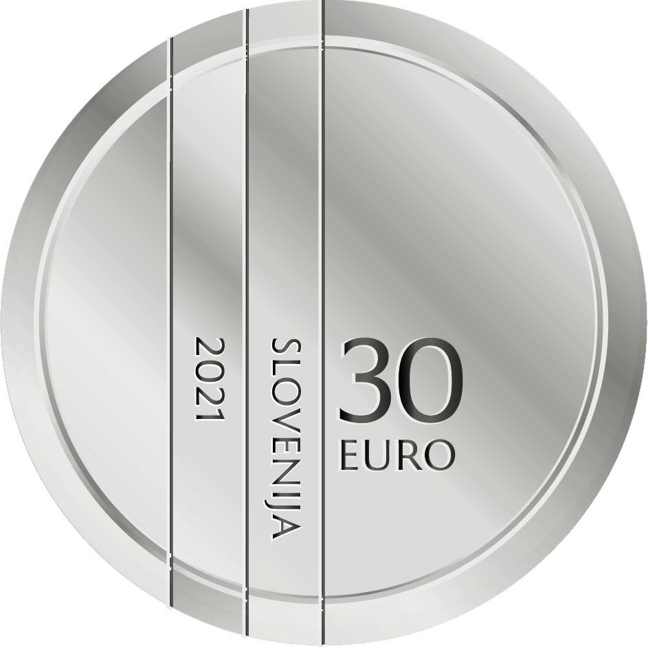 Словения монета 30 евро 30-летие Республики Словения, аверс
