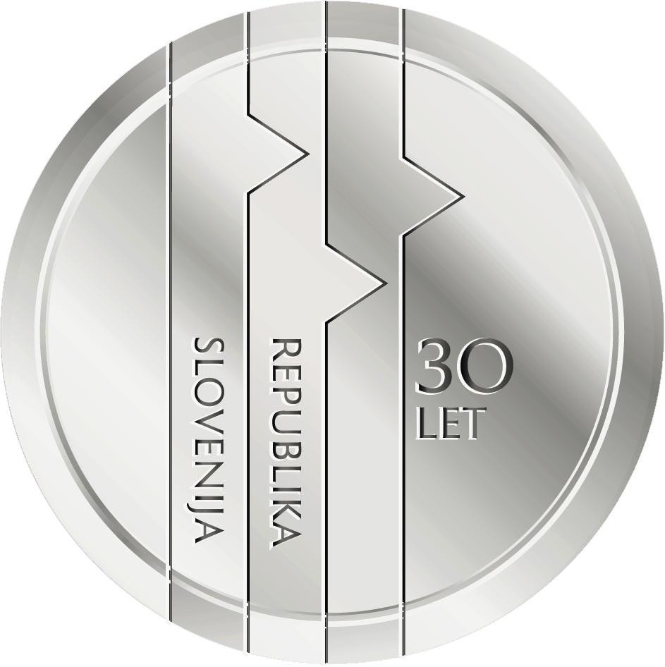 Словения монета 30 евро 30-летие Республики Словения, реверс