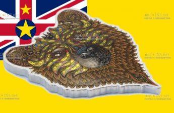 Соломоновы острова монета 2 доллара Медведь Гризли