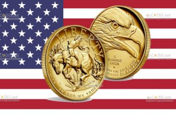 США монета 100 долларов Американская свобода