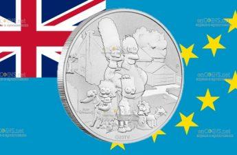 Тувалу монета 1 доллар Семьи Симпсонов