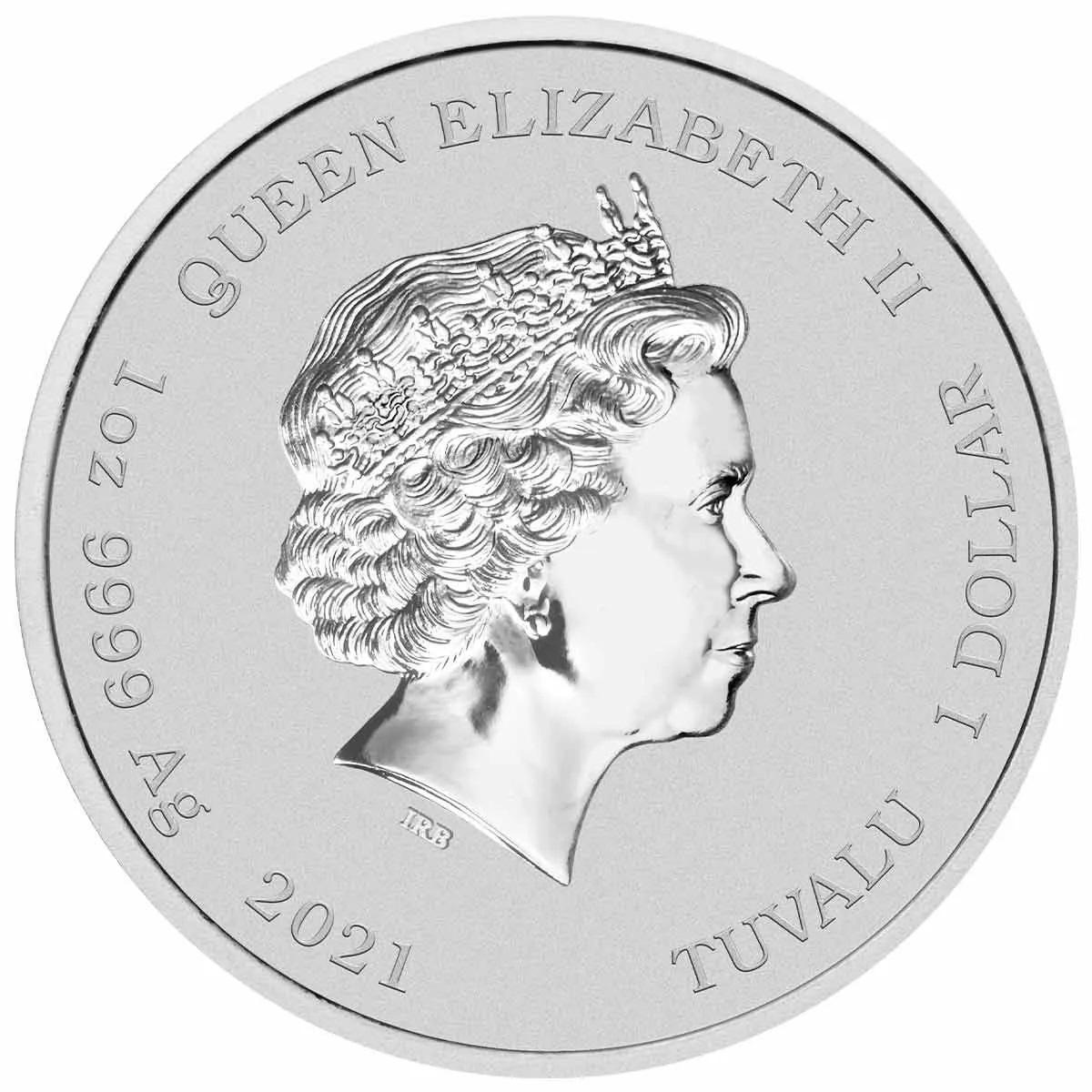 Тувалу монета 1 доллар Семьи Симпсонов, аверс