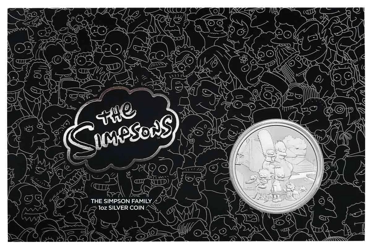 Тувалу монета 1 доллар Семьи Симпсонов, подарочная упаковка