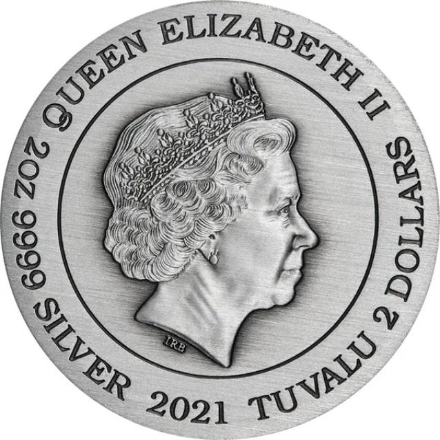 Тувалу монета 2 доллара, 2021 го, аверс