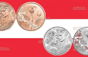 В Австрии выпустили монету 10 евро Роза — любовь и желание