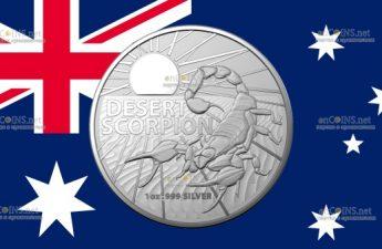 Австралия монета 1 доллар Пустынный скорпион