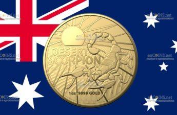 Австралия монета 100 долларов Пустынный скорпион