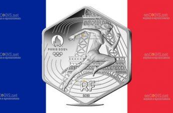 Франция монета 10 евро 2024 год Олимпийские игры в Париже