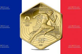 Франция монета 250 евро 2024 год Олимпийские игры в Париже