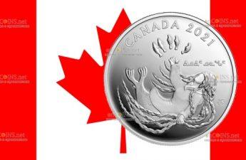 Канада монета 20 долларов Нунангат о морской богине