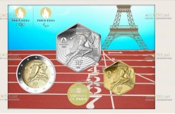 монеты серии 2024 год Олимпийские игры в Париже