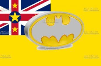 Ниуэ монета 2 доллара Логотип BATMAN