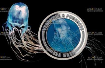 Самоа монета 1 доллар Морская Оса