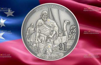 Самоа монета 1 доллар Рыжий Эрик