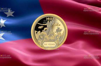 Самоа монета 50 тала Викинги