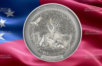 Самоа выпускает монету 1 доллар Иггдрасиль