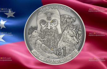 Самоа выпускает монету 1 доллар Один - Отец богов