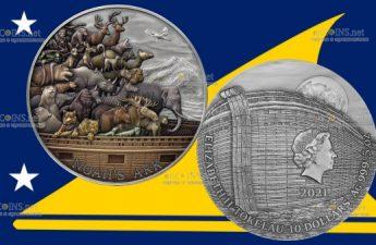 Токелау монета 10 долларов Ноев ковчег