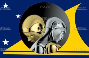 Токелау монета 20 долларов Цифровая любовь